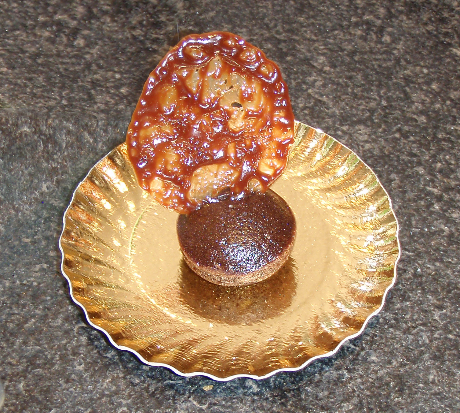 chips de carambar et son fondant chocolat