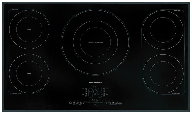 Table Induction 90cm KitchenAid 5 feux  KHIS9010.png