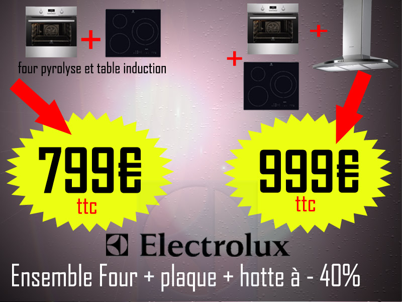 ensemble electrolux four plaque. Black Bedroom Furniture Sets. Home Design Ideas