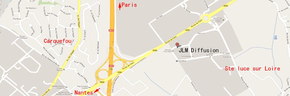 plan d'accès JLM Diffusion